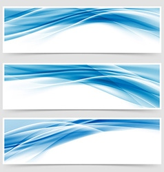 Beautiful hi-tech blue header footer swoosh vector image