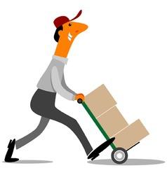 delivery man vector vector image