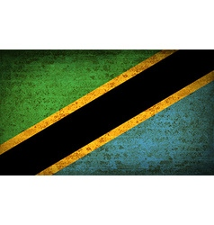 Flags tanzania with dirty paper texture vector