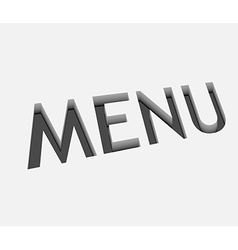 Menu text design vector
