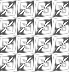 Gray striped triangular shapes with thickening in vector