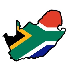 Map in colors of South Africa vector image