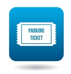 Parking ticket icon simple style vector