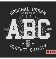 Abc vintage stamp vector