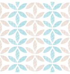 Abstract textile leaves stripes seamless pattern vector image vector image