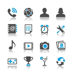 Application icons reflection vector image vector image