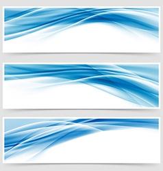 Beautiful hi-tech blue header footer swoosh vector image vector image