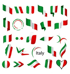biggest collection of flags of Italy vector image vector image