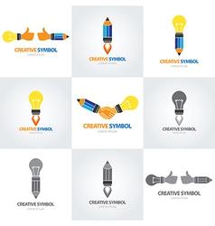 Creative symbol set vector image vector image