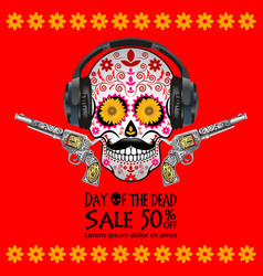 Day of the dead traditional sale background vector