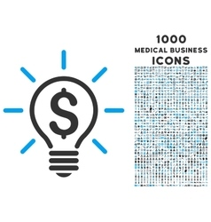 Electric light price icon with 1000 medical vector