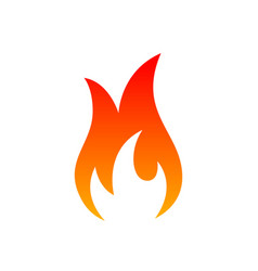 fire icon sign on the white background vector image