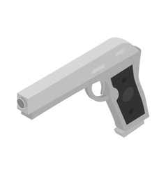 Gun icon isometric 3d style vector image vector image