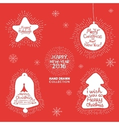 Happy New Year hand lettering Set vector image