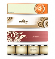 header banners vector image vector image