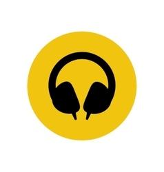 Headphones silhouette vector