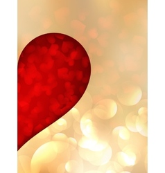 Holiday red abstract background with hearts vector image vector image