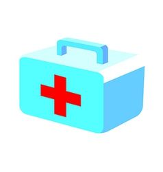icon aid box vector image vector image