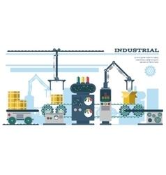 Industrial conveyor belt line vector