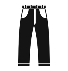 Jeans icon simple style vector