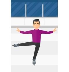 Male figure skater vector