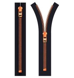 Open and closed zipper vector