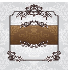 ornate vintage frame vector image