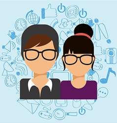 people lifestyle vector image
