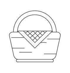 picnic basket symbol vector image