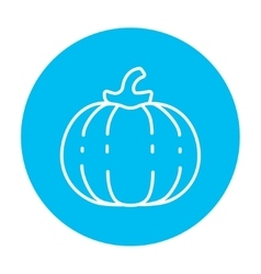 Pumpkin line icon vector