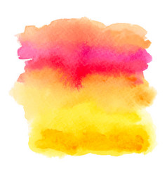 red and yellow watercolor gradient banner vector image