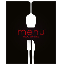 Restaurant menu design food and drink background vector