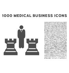 Strategy icon with 1000 medical business symbols vector