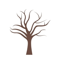 Tree with no leaves vector