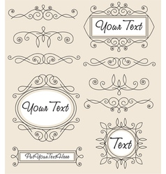 vintage ornament set vector image
