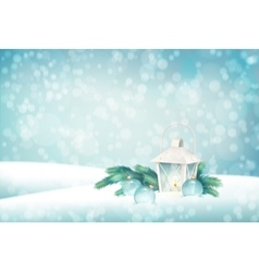 Winter christmas scene background vector