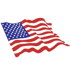 American flag color vector image