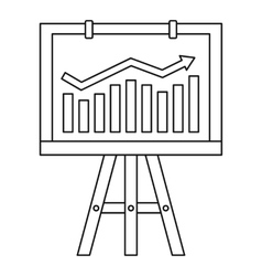 Progression bar on presentation screen icon vector