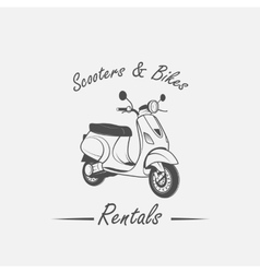 Rent sale repair - bicycles mopeds and scooters vector