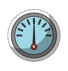 Fuel gauge isolated icon vector