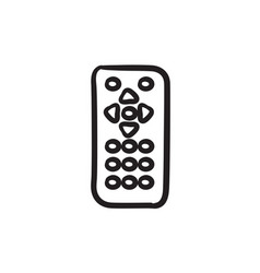 Remote control sketch icon vector