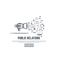 Public relation concept vector
