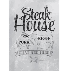 Steak house coal vector