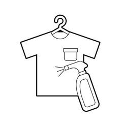 Laundry garments with splash bottle vector
