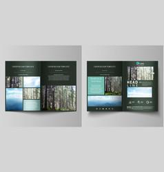 Templates for bi fold brochure flyer booklet or vector