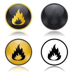 Danger fire risk warning signs vector