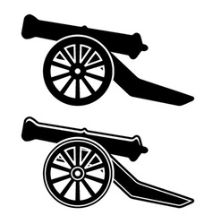 Ancient cannon symbol vector