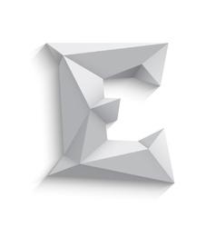3d letter E on white vector image