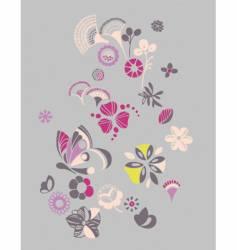 Floral fantasy vector
