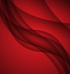 Red modern abstract lines swoosh certificate - vector image